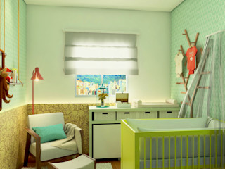 Bruna Rodrigues Designer de Interiores Cuartos infantiles de estilo ecléctico