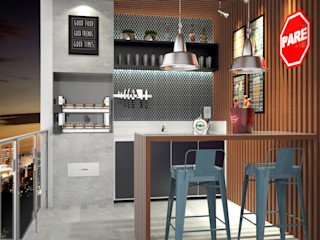 Bruna Rodrigues Designer de Interiores Balcones y terrazas de estilo industrial