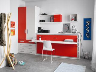 Ampliación Sonríe IDEES.2 MUEBLES ORTS DormitoriosCamas y cabeceros Aglomerado Rojo