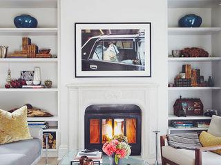 Victorian Modern Douglas Design Studio Living room Multicolored