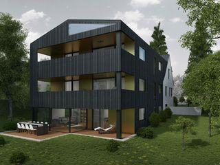 Wohnüberbauung Maßfelder Weg Planungsgruppe Korb GmbH Architekten & Ingenieure Moderne Häuser Grau