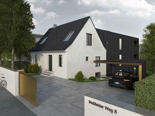 Wohnüberbauung Maßfelder Weg Planungsgruppe Korb GmbH Architekten & Ingenieure Moderne Häuser Weiß