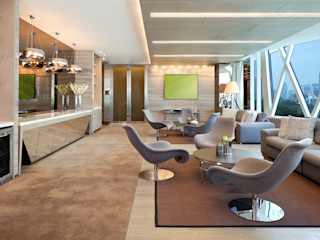 Commercial Projects Gracious Luxury Interiors Modern bars & clubs Beige
