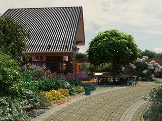Дача для многодетной семьи Мастерская ландшафта Дмитрия Бородавкина Сад в стиле кантри