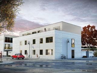 Kopernikusplatz Erfurt Planungsgruppe Korb GmbH Architekten & Ingenieure Moderne Häuser Weiß