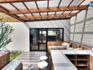 NidoSur Arquitectos - Valdivia Balcones y terrazas de estilo moderno Madera Acabado en madera