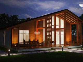Mild Haus Casas de estilo escandinavo Madera Acabado en madera