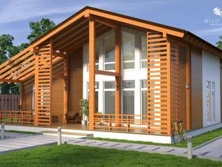 Mild Haus Casas de estilo escandinavo Madera maciza Beige