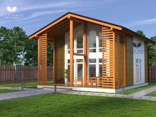 Mild Haus Casas de estilo escandinavo Madera maciza Multicolor