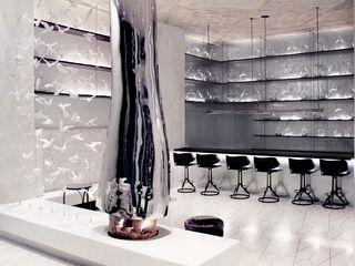 Joe Ginsberg Design Modern hotels Metallic/Silver