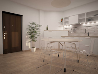 BILOCALE SANTO STEFANO LAB16 architettura&design Cucina minimalista
