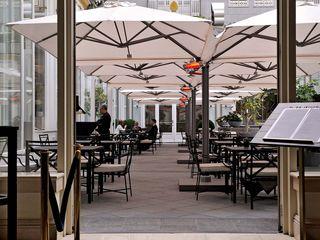Solero Parasols Gastronomia in stile moderno Alluminio / Zinco Bianco