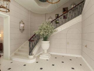 Kerim Çarmıklı İç Mimarlık Classic style corridor, hallway and stairs