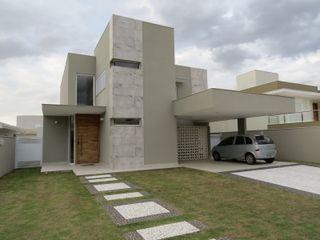 Habitat arquitetura Casas modernas Cerámico Gris