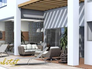 Habitat arquitetura Casas de estilo tropical Madera Beige