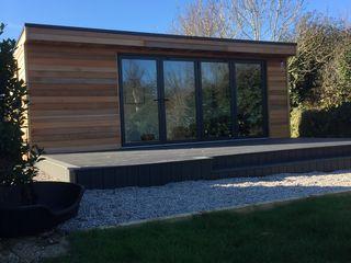 Pilates Studio Building With Frames Modern Gym Wood