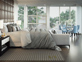 m.frahat Dormitorios de estilo moderno Beige