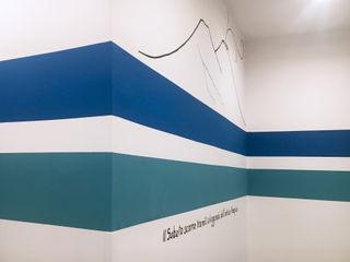 Casa Vacanze il Sebeto archielle Ingresso, Corridoio & Scale in stile eclettico Blu