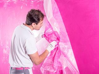 FARBCOMPANY Dapur Gaya Eklektik Pink