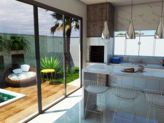 ADRIANA MELLO ARQUITETURA 現代廚房設計點子、靈感&圖片
