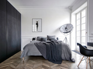 INT2architecture Minimalist bedroom Black