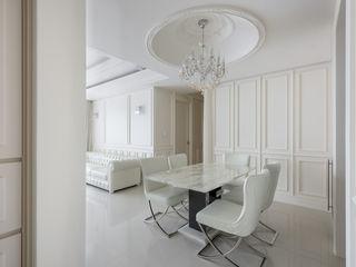 直譯空間設計有限公司 Classic style dining room White
