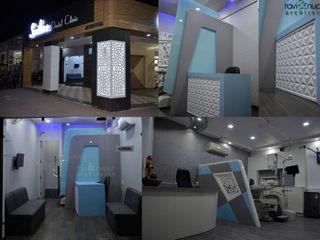 RAVI - NUPUR ARCHITECTS Estudios y despachos de estilo moderno Vidrio Blanco