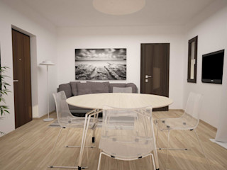 TRILOCALE SANTO STEFANO LAB16 architettura&design Soggiorno minimalista