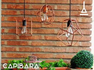 Artefactory Corredor, vestíbulo e escadasIluminação Metal Metalizado/Prateado
