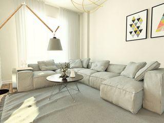 Murat Aksel Architecture Modern Living Room Concrete Beige