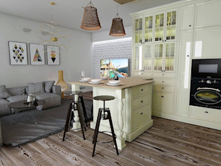 Murat Aksel Architecture Kitchen Wood Beige