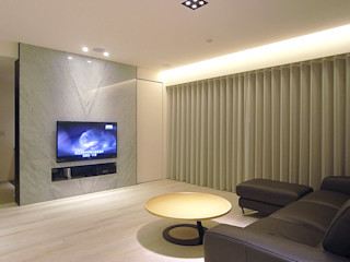 直譯空間設計有限公司 Minimalist living room White