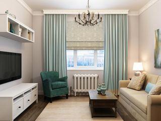 Massimos / cтудия дизайна интерьера Phòng khách phong cách kinh điển Gỗ Turquoise