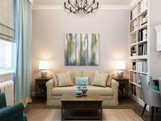 Massimos / cтудия дизайна интерьера Phòng khách phong cách kinh điển Turquoise
