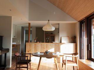 HOUSE IN CHIYOGAOKA Mimasis Design/ミメイシス デザイン Ruang Fitness Kayu Wood effect