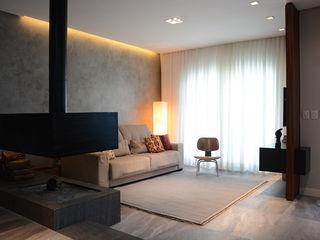 Bloco Z Arquitetura Minimalist living room