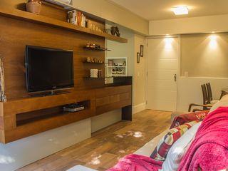 Bloco Z Arquitetura Rustic style living room