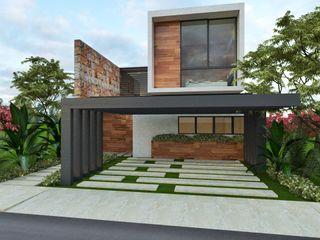 Art.chitecture, Taller de Arquitectura e Interiorismo 📍 Cancún, México. Будинки Інженерне дерево Сірий