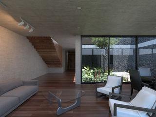 Studio de Arquitectura y Ciudad Modern living room Wood Multicolored