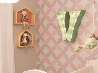 Lodo Barana Arquitetura e Interiores Modern nursery/kids room Wood Pink