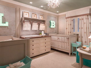 Lodo Barana Arquitetura e Interiores Modern nursery/kids room Wood Beige