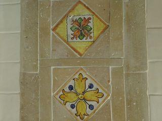 Bagno La Fleche Design Bagno in stile classico Ceramica Giallo
