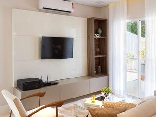 Lodo Barana Arquitetura e Interiores Modern living room MDF Beige