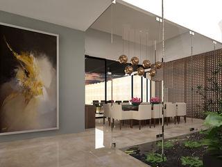 Vau Studio Modern Corridor, Hallway and Staircase