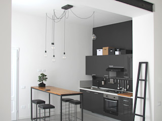 CHIARA MARCHIONNI ARCHITECT Industriële keukens Houtcomposiet Grijs