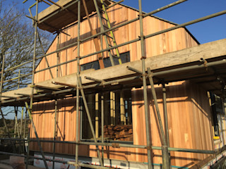 West Polberro - St Agnes Building With Frames Modern Houses Wood