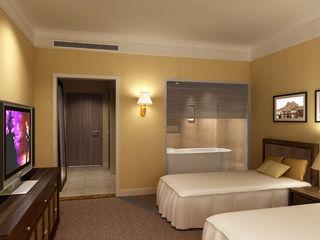 直譯空間設計有限公司 Rustic style hotels Beige
