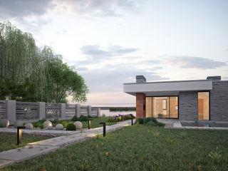 Загородный дом для молодой семьи премиум интериум Дома в стиле минимализм