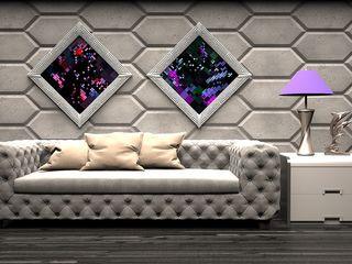 ZICARO - producent paneli 3D غرفة المعيشة Grey