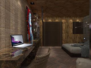 Studio Diego Duracenski Interiores Industrial style bedroom Solid Wood Wood effect